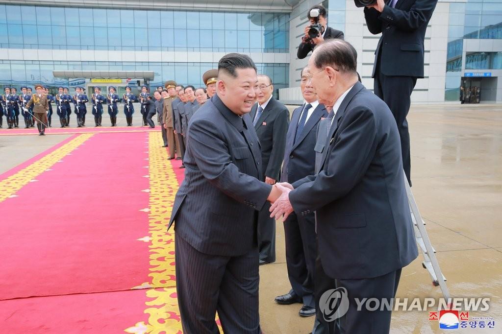 평양 출발하는 김정은 국무위원장