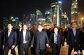 Kim Jong-un pasea por Singapur
