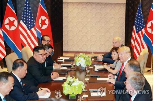 북한 신문, 북미 확대회담 모습 보도