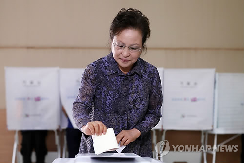 Former first lady votes in local elections