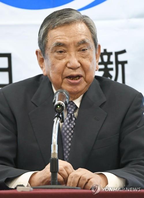 강연하는 고노 요헤이 전 일본 관방장관