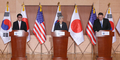 Conférence de presse Corée-USA-Japon