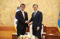 Avec le chef de la diplomatie japonaise