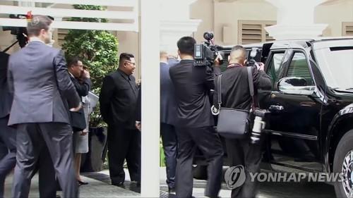 북한 TV, 트럼프 '전용차 소개' 장면 방영