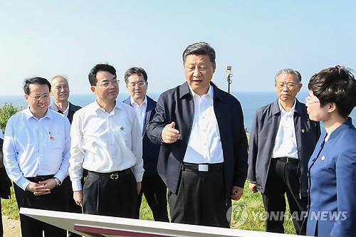 시진핑, 청일전쟁 패전 유적지 둘러보며 '해양강국' 역설