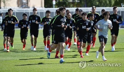 サッカーW杯ロシア大会で1次リーグF組の韓国は第2戦でメキシコと対戦する=(聯合ニュース)