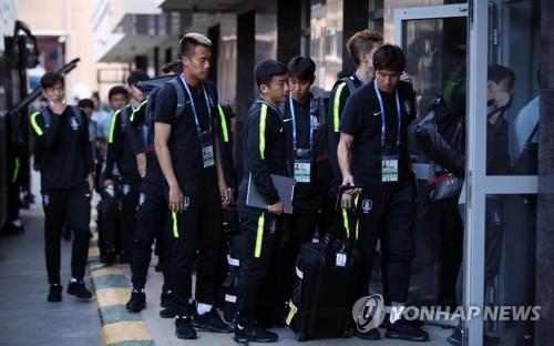 (كأس العالم) وصول منتخب كوريا الجنوبية إلى نيجني نوفغورود لمواجهة السويد بمودنيال روسيا