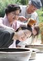 菖蒲湯で洗髪