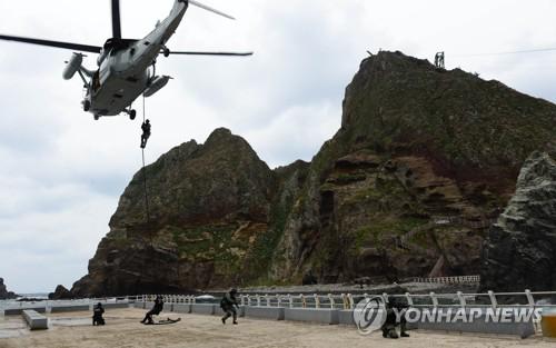 独島防衛訓練の様子(資料写真)=(聯合ニュース)