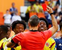 [월드]콜롬비아 산체스, 대회 1호 퇴장…日, 3분만에 '첫 골'