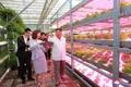 Kim dans un centre de sciences agricoles à Pékin
