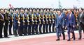 文大統領 ロシアに到着