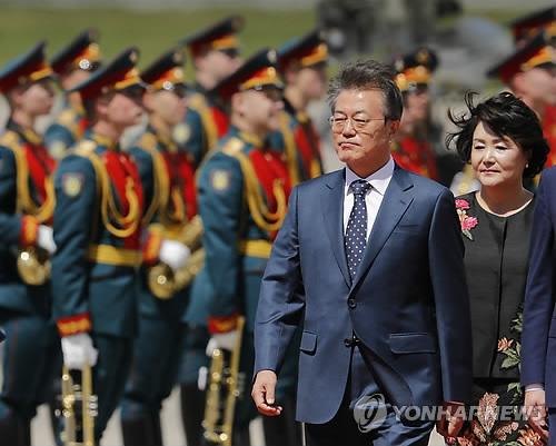 문대통령 부부, 푸틴 대통령 주최 국빈만찬 참석