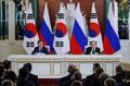 한러정상, 남북러 철도연결 공동연구 지속 합의…공동성명 발표