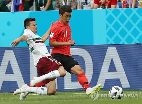 """[월드컵] '득점 기회 놓친' 황희찬 """"아쉽고, 화가 많이 난다"""""""