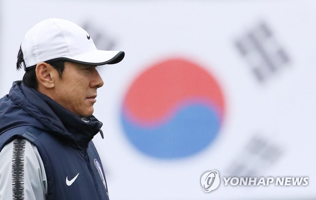 독일과 F조 3차전 앞둔 신태용 축구대표팀 감독 [연합뉴스 자료 사진]