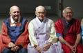 Los veteranos de la Guerra de Corea en 'hanbok'