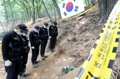Excavation of war dead remains