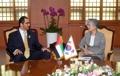 La canciller se reúne con el ministro de los EAU