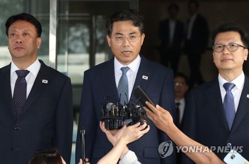 韩朝公路会谈韩方代表团启程赴会