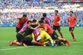 Celebrando el segundo gol surcoreano