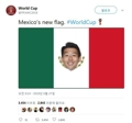 Son Heung-min on Mexican national flag