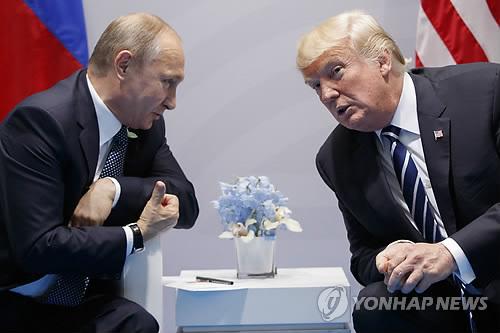 트럼프-푸틴 첫 공식 정상회담 오는 16일 헬싱키서 개최 [AP=연합뉴스 자료사진]