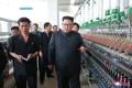 Kim Jong-un dans une usine textile