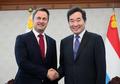 Primeros ministros de Corea del Sur y Luxemburgo
