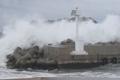 台風7号北上 済州島に接近