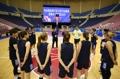 Jugadoras de baloncesto surcoreanas en Pyongyang