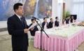 Allocution du ministre nord-coréen du Sport
