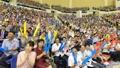 平壌市民 南北バスケ大会に熱狂