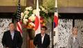 韓米日外相が共同記者会見