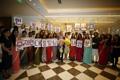 Avec des élèves de l'institut Roi Sejong