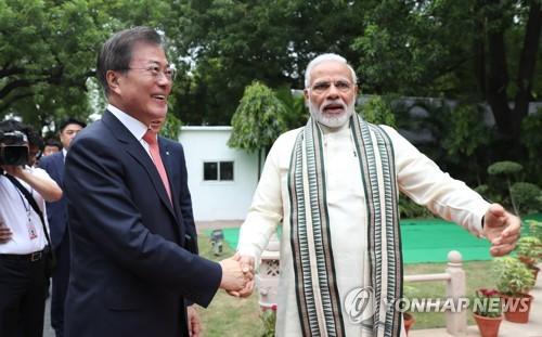 문대통령, 오늘 모디 인도총리와 정상회담…협력확대 방안 논의