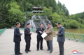 N.K.'s Kim inspects construction site