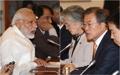 韩国印度举行扩大首脑会谈