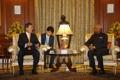 Présidents sud-coréen et indien