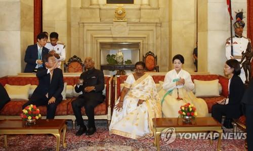 문대통령 부부, 코빈드 인도 대통령 부부 주최 국빈만찬 참석