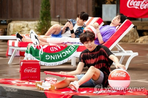 J-Hope of BTS with Coca Cola