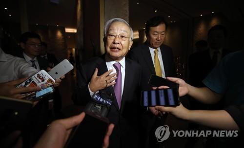 경총 신임 부회장 발표하는 손경식 회장