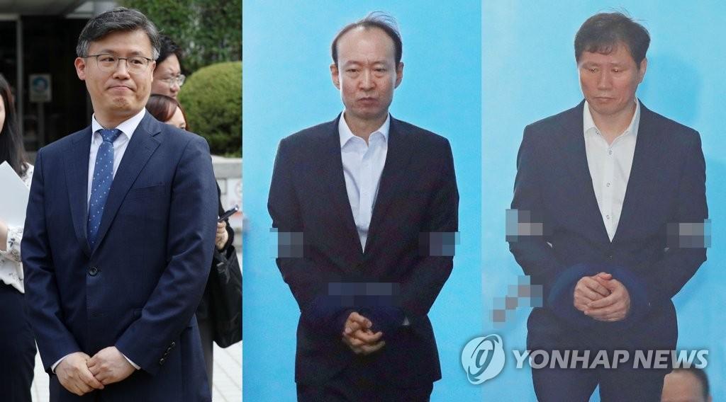 '국정원 특활비 상납' 이재만·안봉근 실형..정호성은 집행유예
