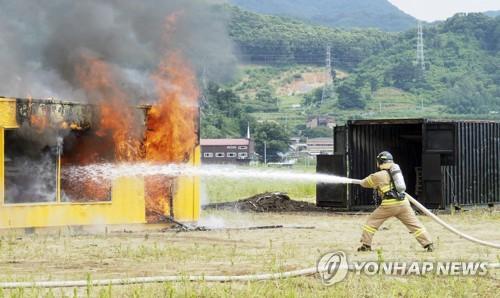 충북소방, 화재 진압 훈련