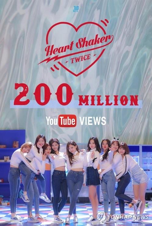 TWICE 'Heart Shaker' 200 mln Youtube views