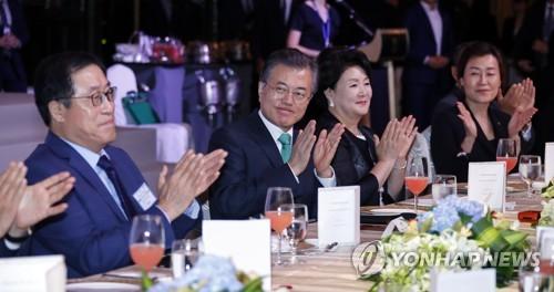 싱가포르 동포 간담회 참석한 문 대통령