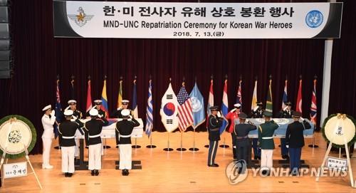 한-미 6·25 전사자 유해 상호 봉환 행사