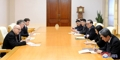 N.K. official meets British delegation