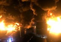 심야에 인천 합성수지공장서 큰 불…