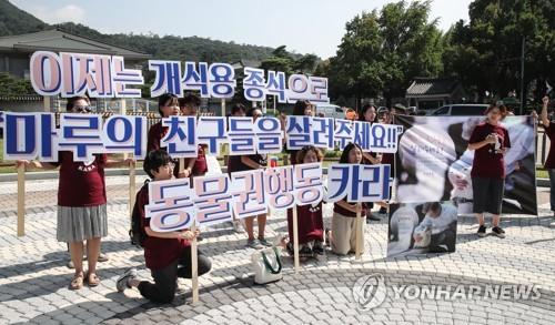 동물권행동 '카라', 개식용 종식 촉구